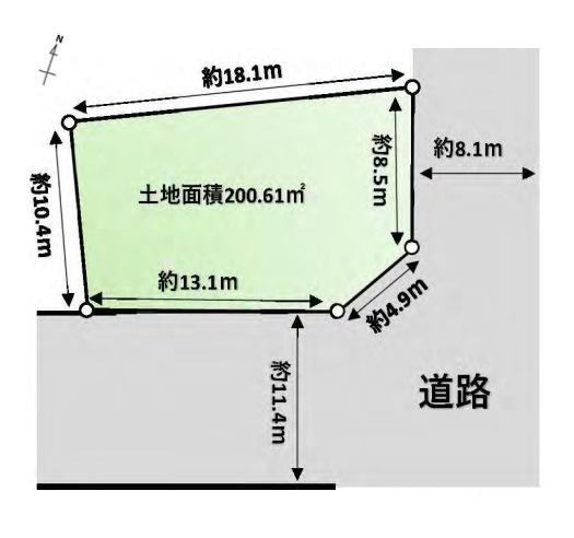 土地価格5590万円、土地面積200.61m2