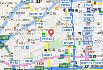 【地図】リンクハウス京町堀