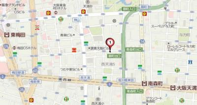 【地図】LOWLANDS西天満