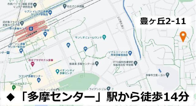 【地図】ホームタウン豊ヶ丘2