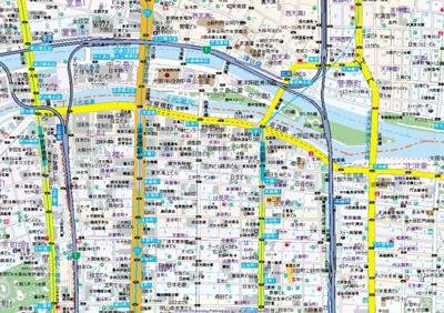 【地図】コンフォリア北浜