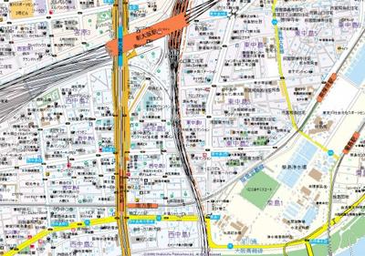 【地図】comforespa新大阪
