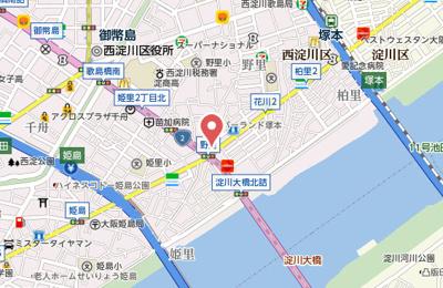【地図】サムティ大阪WESTグランジール