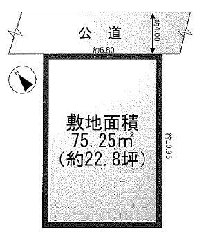 【土地図】建築条件なし売地 南生田六丁目