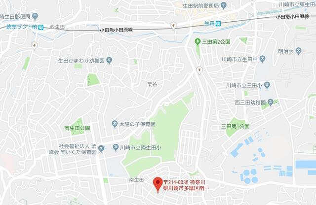 【地図】建築条件なし売地 南生田六丁目