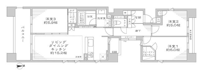 THEパームス葛西エアリィタワー:南東角部屋につき陽当り・通風良好な3LDKエアコン付きリノベーション物件はフラット35s&住宅ローン控除利用可能です!令和3年8月上旬完成となっております!