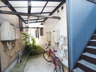 駐輪、屋根付き