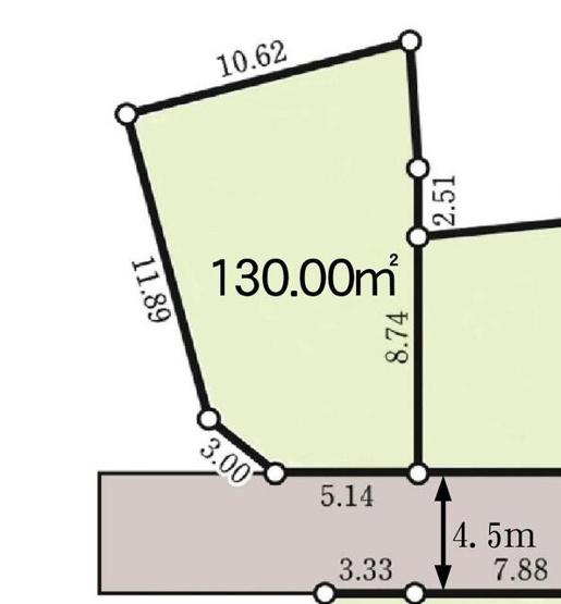 【土地図】建築条件なし売地 京王線聖蹟桜ヶ丘駅