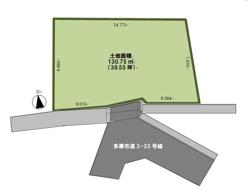 建築条件なし売地 京王線聖蹟桜ヶ丘駅の画像
