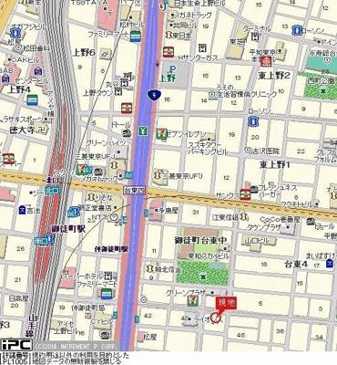 【地図】スカイノブレ御徒町