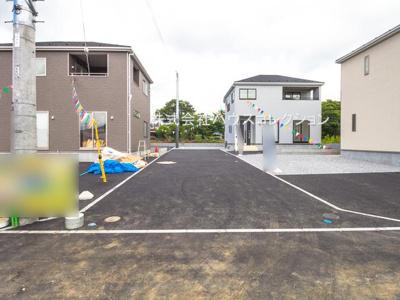 【前面道路含む現地写真】土浦市高岡第2 新築戸建 全4棟