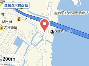 【地図】レオネクストレークサイドナカノ