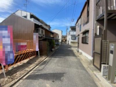 【前面道路含む現地写真】上京区下之町 建築条件付 売土地