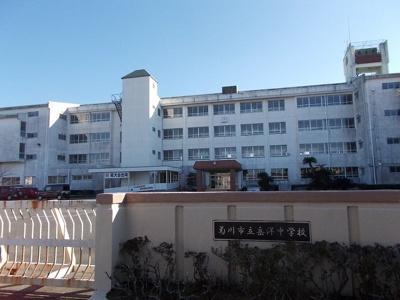 菊川市立岳洋中学校まで1300m