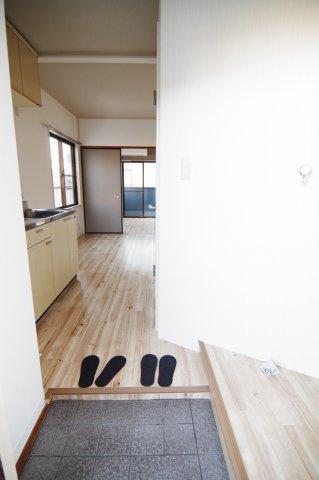 C棟の玄関の写真です。/大関建設
