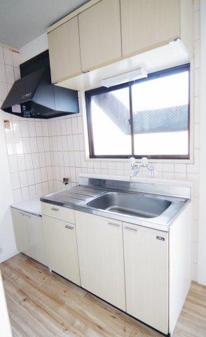 C棟のキッチンの写真です。/大関建設