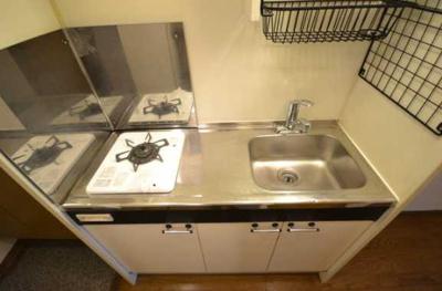 【キッチン】グレイス下北沢 バストイレ別 室内洗濯機置場 南向き