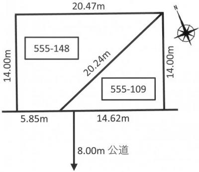 【区画図】栄通18丁目 1棟アパート