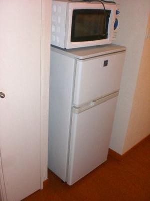 電子レンジ、冷蔵庫付き