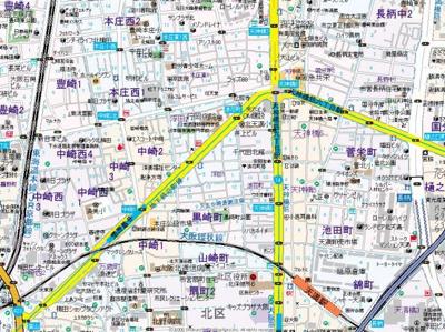 【地図】アクアプレイス梅田Ⅱ