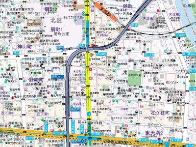 【地図】レジュールアッシュ梅田イースト