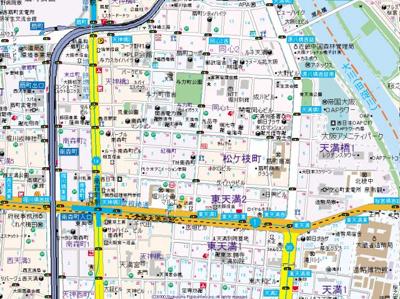 【地図】ラナップスクエア南森町ネクストステージ