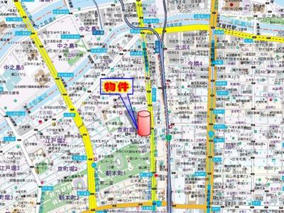 【地図】リーガル四ツ橋筋