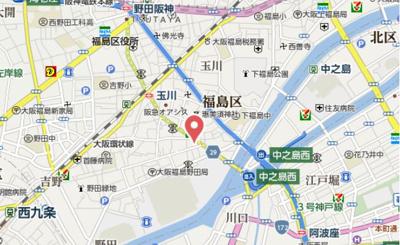 【地図】ファーストフィオーレ福島野田