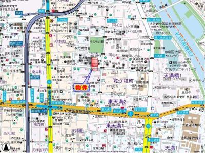 【地図】プレサンス天神橋ディオレ