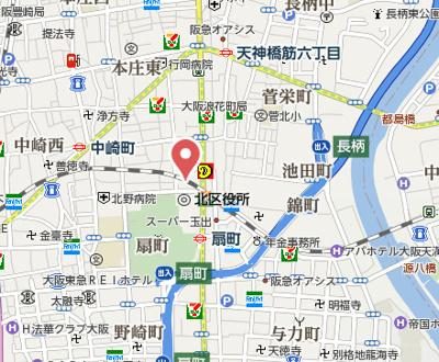 【地図】プレサンス天満ステーションフロント