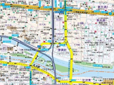 【地図】プレサンス南森町ライズ