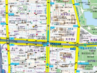 【地図】プレサンス大手前パークサイドⅡ