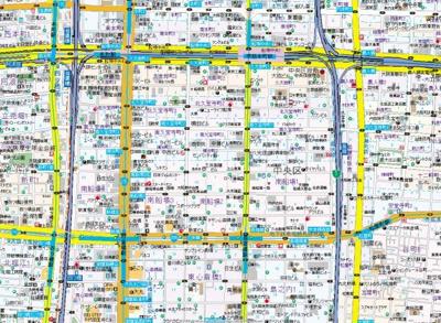 【地図】プレサンスNEO心斎橋