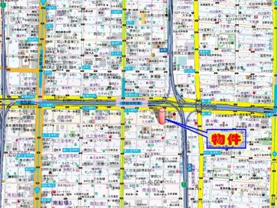【地図】プレサンス東本町
