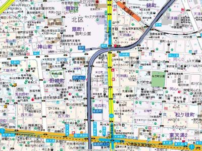 【地図】アムズメイプル扇町