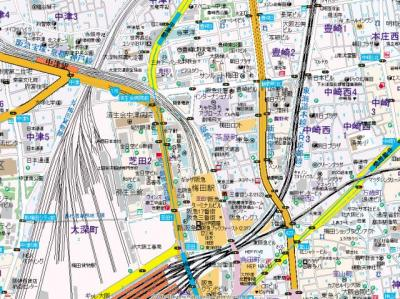 【地図】ミモサ中津