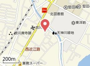 【地図】コーポHIRO