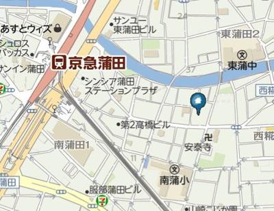 【地図】id 蒲田(アイディ カマタ)