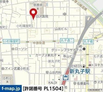 【地図】トヨハイツ