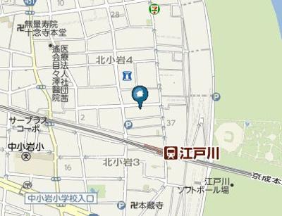 【地図】サンシャイン北小岩(サンシャインキタコイワ)