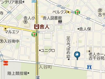 【地図】レジデンスSAKURA舎人(レジデンスサクラトネリ)