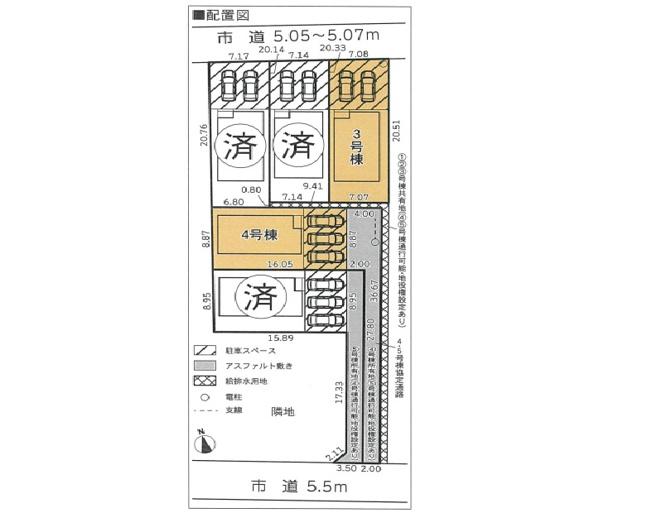 【区画図】沼津市大岡第21 全5棟