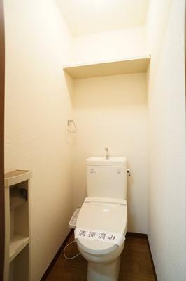 トイレ(上部棚有)※同一間取り1階の写真です。