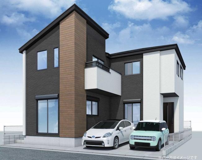 土地面積114.05㎡ 建物面積110.47㎡ 2階建 5LDK大型ハイクラス邸宅が誕生いたします♪ 駐車並列2台可能 (イラストは図面を基に起こしたもので実際のものとは多少異なる場合がございます)