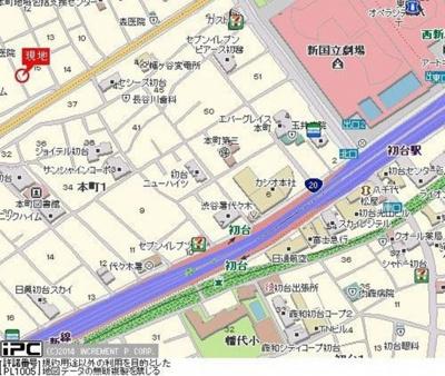 【地図】ユニコート初台B棟