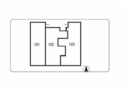 【区画図】グリーンウッド 南向き 室内洗濯機置場 TVドアフォン