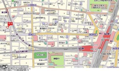 【地図】スカイコート蒲田第2