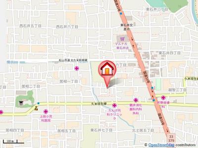 【地図】シャーメゾン東石井