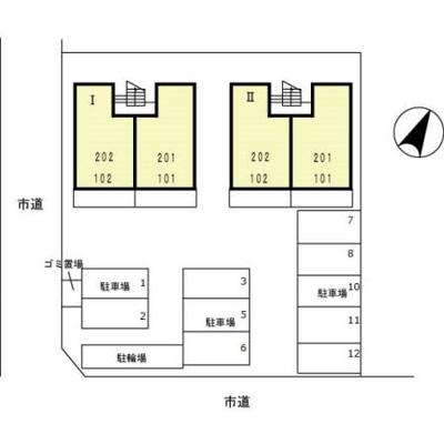 【区画図】ビューラー細野 Ⅱ
