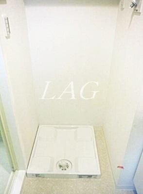 洗濯機置場です。